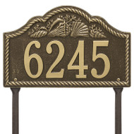 Whitehall Personalized Rope Shell Arch Plaque Lawn