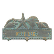 Whitehall Personalized Sea Shell Hook Plaque