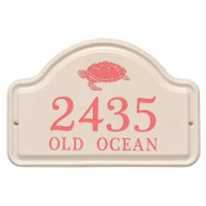 Whitehall Personalized Turtle Ceramic Arch Plaque
