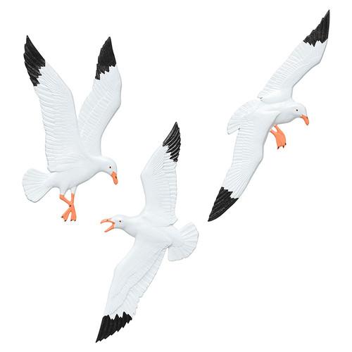 Whitehall Seagull Trio Wall Décor - White / Black