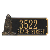 Whitehall Personalized Lighthouse Rectangle Plaque 2 Line