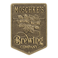 Whitehall Original Recipe Brewing Company Beer Plaque, Standard Wall 1-line