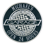 Whitehall Victory Lane Garage Plaque - Standard Wall - Two Line