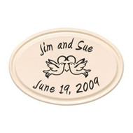 Whitehall Anniversary Heart & Birds Ceramic Personalized Plaque