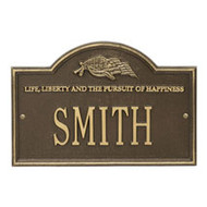 Whitehall Life and Liberty Personalized Plaque