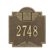 Whitehall Monogram Address Personalized Plaque