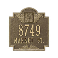 Whitehall Monogram Address Personalized Plaque - 2 Lines
