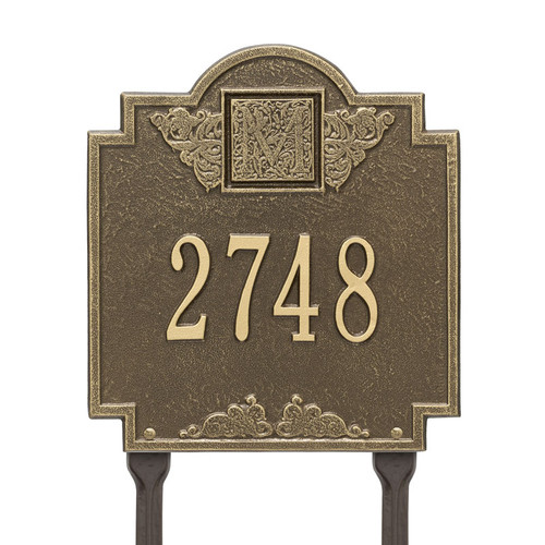 Whitehall Monogram Address Personalized Plaque Lawn