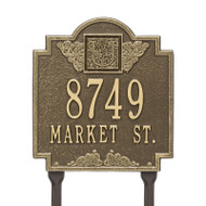Whitehall Monogram Address Personalized Plaque Lawn - 2 Lines