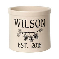 Whitehall Personalized Pine Bough Established 2 Gallon Crock