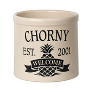 Whitehall Personalized Pineapple Established / Welcome 2 Gallon Crock