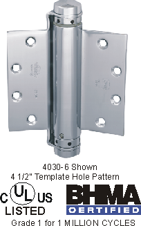 Bommer Single Acting Spring 6 inch Hinge - 4030-6