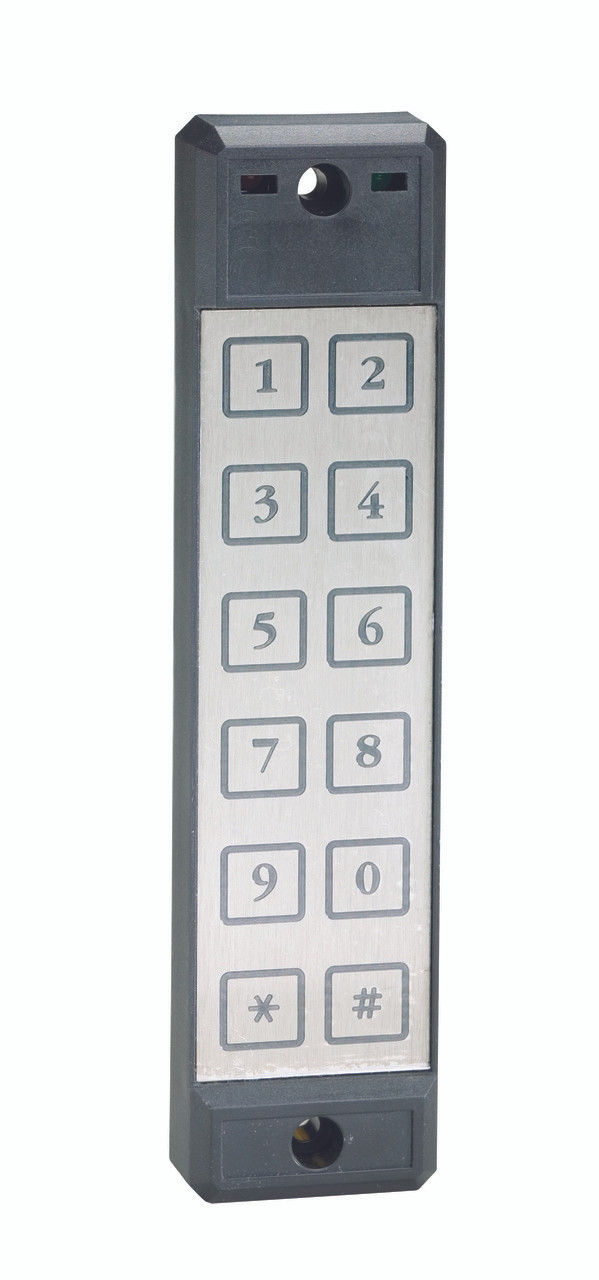 Schlage SEKPDWG Weatherized Stainless Faceplate with Electronic Keypad  Readers 3x4 Matrix - Single Gang Mount
