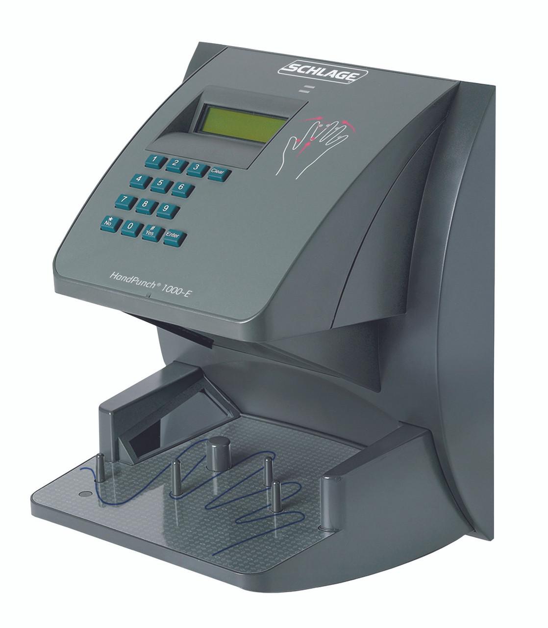 Schlage Handpunch BioMetric Terminals F Series Break Compliant HandPunch  1000 with Ethernet, memory for 100