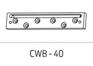 Schlage Electromagnetic Locks Accessories Concrete/Wood Brackets (628, 335 finish only) For 40 Series - CWB-40