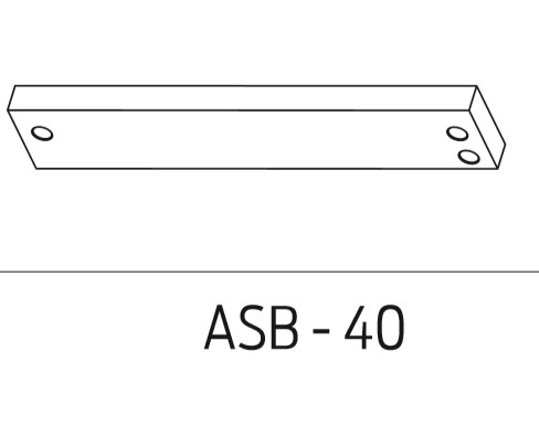 Schlage Electromagnetic Locks Accessories Aluminum Spacer Brackets (628, 335 finish only) For 40 Series - ASB-40