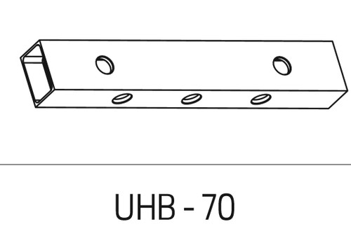 Schlage Electromagnetic Locks Accessories Universal Header Bracket (628, 335 finish only) For 70 Series - UHB