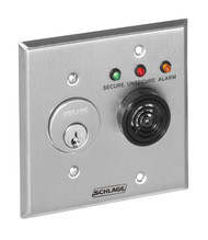 Schlage Remote &?Local Monitoring Stations 800 Series Local or Remote Monitoring Station with Keyswitch (less cylinder) for Legal Release & Reset feature (requires MBS on locking device) SPDT momentary x SPDT maintained contact arrangement - 801KS