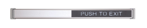 """Schlage Electronic Access and Releasing Request-to-exit Devices 672 TouchBar with """"PUSH TO EXIT"""" Signage"""