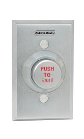 "Schlage Electronic Access and Releasing Devices 600 Series Heavy Duty PushButtons Extreme Duty Cast Zinc Plate Zinc Cone 1-1/4"" Metal Button Single Gang - 631"
