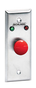 Schlage Electronic Access and Releasing Devices 700 Series Entry Level PushButtons Stainless Steel Only Plate Button - 701