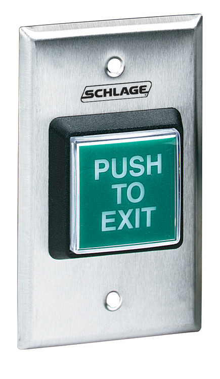 Schlage Electronic Access and Releasing Devices 700 Series Entry Level PushButtons Stainless Steel Only Plate Button - 709