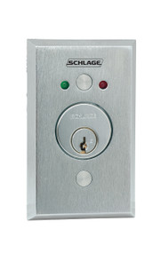 "Schlage Electronic Access and Releasing Devices 650 Series Heavy Duty KeySwitches Stainless Steel 2-3/4"" x 4-1/2"" Plate with Innovative magnetic spring technology - 653"