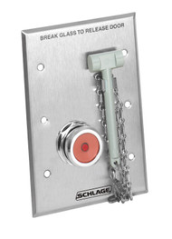 Schlage System Accessories 740 Series Emergency Break Glass With indicator light - 741