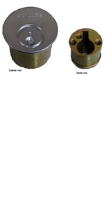 Schlage Cylinders Deadbolts Miscellaneous Parts, B600/700-Series Dummy cylinder faceplate and outside housing - B610-024
