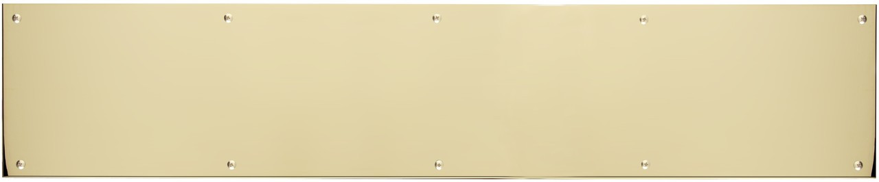 BRASS Accents 6 x 40 in Kick Plate Polished Brass-Aluminum Adhesive Mount
