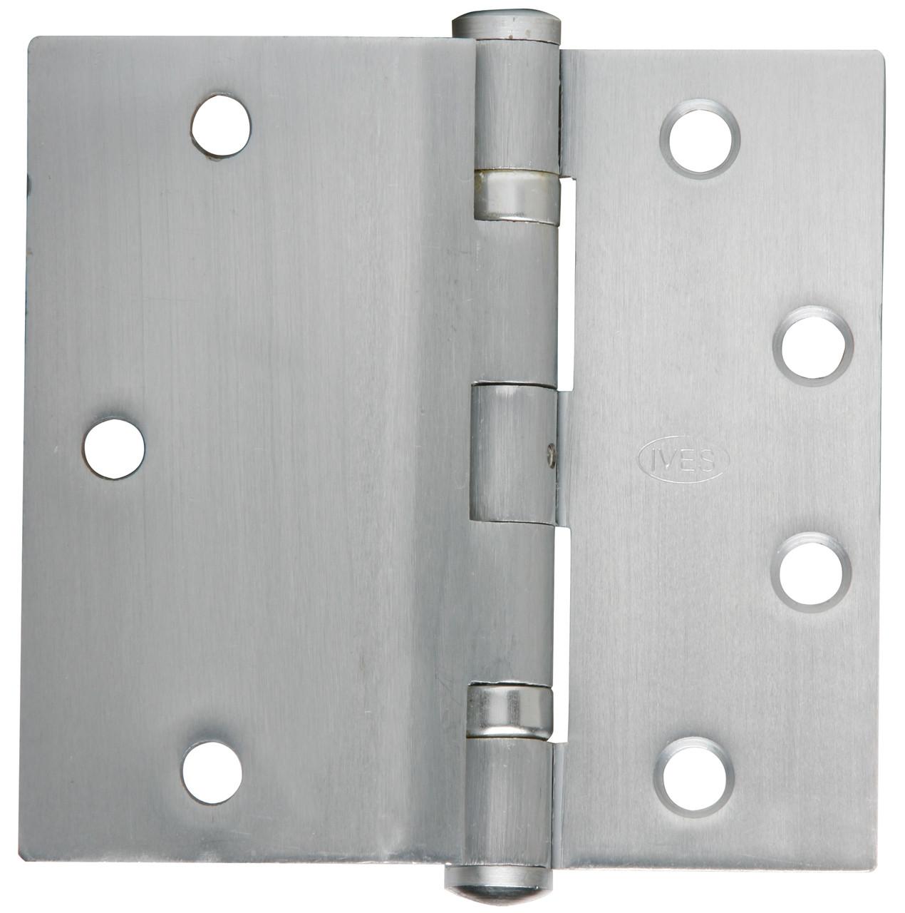 """3 Ives 5PB1 4/"""" x 4/"""" 600//USP Full Mortise Butt Plain Bearing Door Hinges PRIMED"""