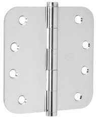 """Ives Architectural Hinges 1000 Series Residential Full mortise Steel Substrates hinges Non rising pin 4"""" x 4"""", 5/8"""" Radius Corner (Order in multiples of 3) - 1021F"""