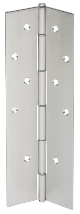 "Ives Continuous Hinges Full Mortise Pin and Barrel Continuous Concealed UL Listed Hinge 14 Gauge Type 304 Stainless Steel 1/8"" Inset Non Handed - 700"