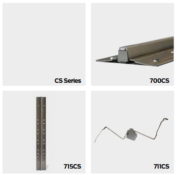 Ives CS Series Continuous Hinges Stainless Steel Full Mortise Hinge w/ AL Cover and Thru Wire Panel  - 700CS TWP