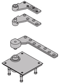 """Ives 7200 Series Pivots Fire Rated 1 1/2"""" Offset Top & Bottom Pivot Set - Heavy Duty 500 Pound Rating - 7245F SET"""