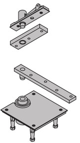 "Ives 7200 Series Pivots 1 1/2"" Offset Top Pivot Center Hung - 7256 Set TOP"
