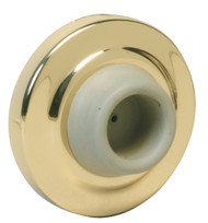 Ives Wall Bumpers Wall Bumpers Concave Rubber Bumper Avoids Damage to Locks with Projecting Buttons, Packed with Wood Screw and Plastic Anchor - WS401CCV
