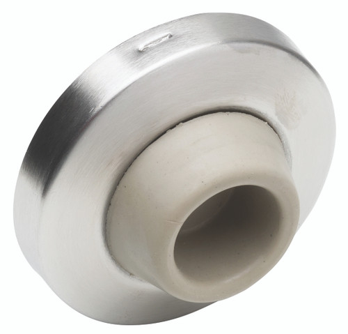 Ives Wall Bumpers Wall Bumpers Concave Rubber Bumper Avoids Damage to Locks with Projecting Buttons and Is Packed with Screw and Drywall Anchor - WS407CCV