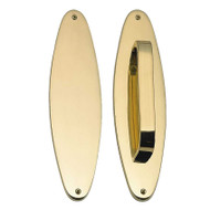 "BRASS Accents Oval Traditional Push & Pull Plate Collection 3"" x 11"""