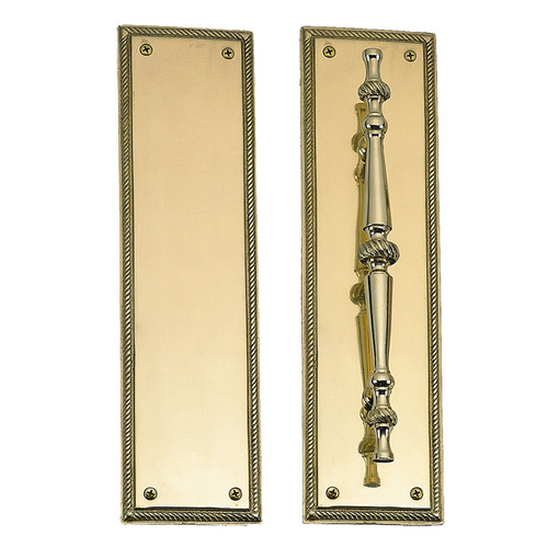 """BRASS Accents Academy Push & Pull Plate Collection 3"""" x 12"""""""