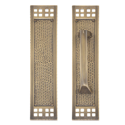 """BRASS Accents Arts & Crafts Push & Pull Plate Collection 2-1/2"""" x 11-1/4"""""""