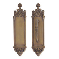 BRASS Accents Renaissance Door Push / Pull Plate Gothic