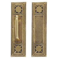 "BRASS Accents Renaissance Door Push / Pull Plate Nantucket 3-3/4"" x 13-7/8"""