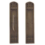 "BRASS Accents Renaissance Door Push / Pull Plate Oxford 3-3/8"" x 18"""