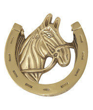 BRASS Accents Horse Door Knocker 5-3/8""