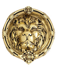 BRASS Accents Leo Lion Door Knocker 8-3/8""