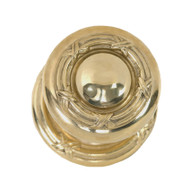 """BRASS Accents Ribbon & Reed Collection Knob / Lever Set - 2-1/8"""" bore - concealed mount"""