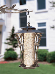 Whitehall Silhouette Bird Hanging Feeders Aluminum - 12""