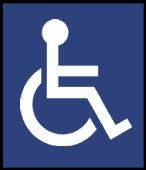 4 inch International Handicap Symbol