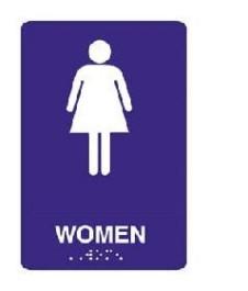 ADA Tactile Sign for Women